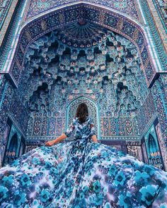 What a beautiful blue! I love this photo. It's taken in a Mosque in Saint Petersburg Russia. Use for your best travel pics Tag a travel addicted Blue Aesthetic, Travel Photographer, Photographer Pictures, Islamic Art, Art And Architecture, Architecture Definition, Belle Photo, Art Photography, Fashion Photography
