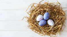 Wielkanoc, Pisanki, Gniazdo, Koszyk