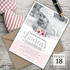 Christening Invitations Girl, Girl Christening, Naming Ceremony Invitation, Easter Birthday Party, Vintage Cake Toppers, Birthday Chocolates, Personalized Chocolate, Star Diy, Name Day