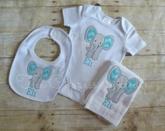 Personalized building tool baby gift set bodysuit bib and burp grey blue elephant baby gift set elephant bodysuit elephant burp cloth elephant negle Choice Image