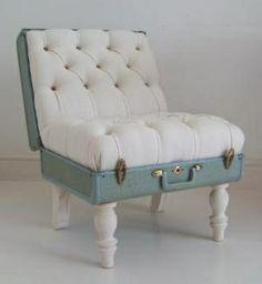 The Suitcase Chair  White Samsonite  Furniture  Recreate minxieme