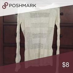 🔴2 for $10🔴 Lightweight sweater Cream colored lightweight sweater Sweaters Crew & Scoop Necks