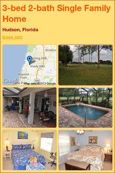 3-bed 2-bath Single Family Home in Hudson, Florida ►$349,500 #PropertyForSale #RealEstate #Florida