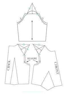 A sleeve pattern tutorial: How to construct different sculptural sleeve patterns by altering the basic sleeve pattern. Tailoring Techniques, Sewing Techniques, Collar Pattern, Sleeve Pattern, Sewing Sleeves, Mix And Match Fashion, Origami Patterns, Origami Fashion, Pattern Cutting