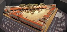 3D-Rekonstruktion und Archäologiemodell Magna Mater Heiligtum Ostia, M=1:100, Sonderausstellung 'Imperium der Götter' Badisches Landesmuseum...