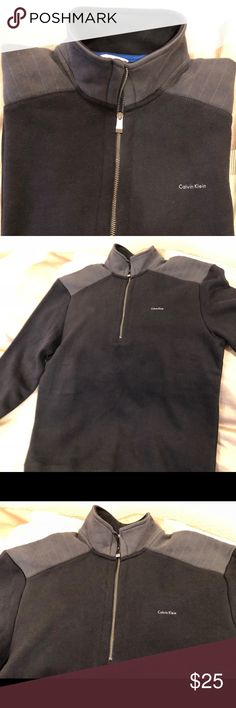Calvin Klein men's sweater Never worn but not tags. Sweater is medium size, Calvin Klein sporty but formal as well, very warm materials and no signs of wear at all. Calvin Klein Sweaters Zip Up