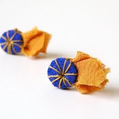Pinwheel Stud Earrings in Electric Purple Leather and by ashdel, $24.00
