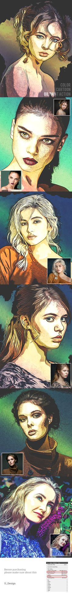 Color Cartoon Oil Paint - Photo Effects Actions