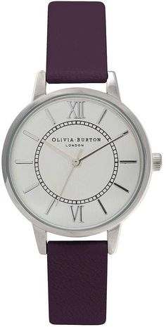 Womens aubergine olivia burton wonderland purple and silver watch from Topshop - £70 at ClothingByColour.com