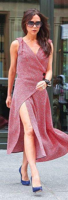 Victoria Beckham: Sunglasses – Cutler  Shoes – Casadei  Dress – Victoria Beckham Collection