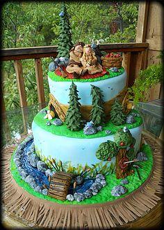 Mountain Man Theme Wedding Cake                                                                                                                                                     More
