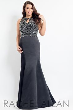 7a624dc5cc4 Rachel Allan Curves 6339 Prom Pageant Homecoming Formal Plus Size Gown