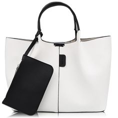 DILER Women Purse Handbags Wallets Bag Set Shoulder Bag Large Tote Bag Top  Handle Satchel White 1e88beb54df15