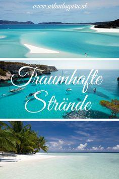 Entdeckt traumhafte Strände mit glasklarem Wasser! Strand, Natural Wonders, Water, Corning Glass, Viajes