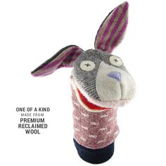 Bunny Wool Puppet: Cate and Levi