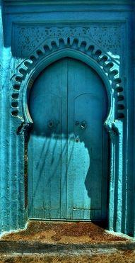 Blue door nice