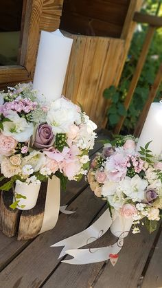 Sara Creations: Buchet mireasa, lumanari cununie si aranjamente nu... Wedding Bouquets, Wedding Flowers, Partial Updo, Starry Night Wedding, Floral Wreath, Wreaths, Candles, Table Decorations, Weddings