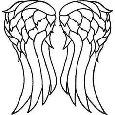 Daryl Dixon vest wings stencil / template The Walking Dead TWD