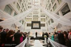 Jennifer Childress Photography | Wedding | Atrium at the Curtis Center | Philadelphia, PA | Loews Hotel | Cescaphe Events Group | Bride and Groom | Ceremony |  www.jennchildress.com