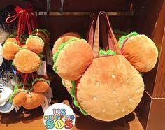 Saw this at Disneyland! Burger Mickey bag. Very cute! #disney #disneymerch #disneymerchandise