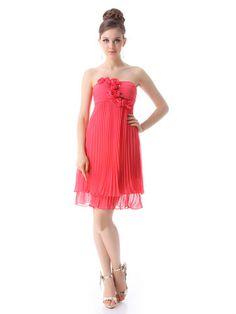 Hot Mini Strapless Ruched Sleeveless Cocktail Dresses | Stylish Beth