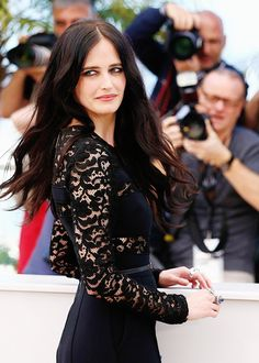 "Eva Green attends the ""The Salvation"" photocall at the 67th Annual Cannes Film Festival on May 17, 2014 in Cannes, France.  (She was the bad girl, Angelique, in Tim Burton's ""Dark Shadows"".  That movie was hilarious, btw)"