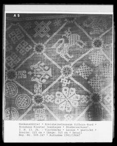TischdeckeNiedersachsen?, 1251/1300, Hankensbüttel, Kreisheimatmuseum Gifhorn-Nord, Brauhaus Kloster Isenhagen —   Foto Marburg,  Aufnahme-Nr. 509.247;; Aufn.-Datum: 1961/1964?; Fotoinhalt: Detail