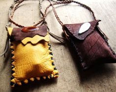 Sacred medicine pouch FILLED to the brim with organic sacred herbs,resins,vials and gemstones custom order Leather Pouch, Leather Purses, Leather Jewelry, Leather Craft, Medicine Bag, Nativity Crafts, Leather Projects, Leather Working, Jewelry Making