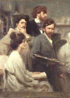 Giacomo Balla, Allo specchio (1902)
