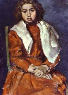 Pablo Picasso - The Barefoot Girl, 1895