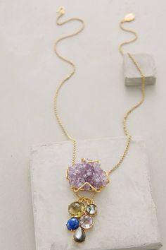 Anegada Druzy Pendant Necklace - anthropologie.com