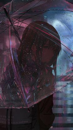 Anime Girl Umbrella Raining click image for HD Mobile and Desktop wallpa Kawaii Anime Girl, Manga Kawaii, Sad Anime Girl, Anime Art Girl, Manga Anime, Sky Anime, Anime Wallpaper 1920x1080, Wallpaper 3840x2160, Animes Wallpapers