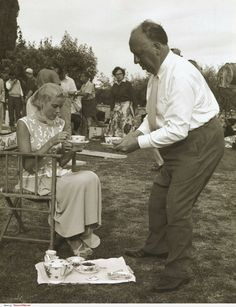 "Grace Kelly and Alfred Hitchcock on the set of ""To Catch a thief"", by Edward Quinn, Cannes, 1954"