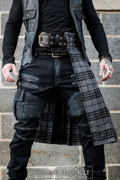 Men In Kilts, Kilt Men, Military Inspired Fashion, Fantasy Dress, Male Photography, Other Outfits, Mens Fashion, Fashion Outfits, Rock Style