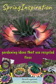 Colorful perennial markers, planter toppers and recycled tire dream catchers also protect from frost, lawnmowers and woodpeckers.