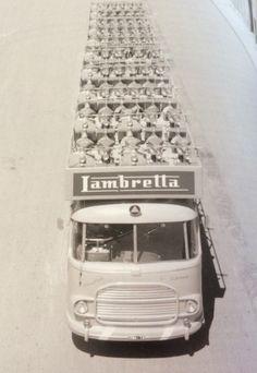 Lambretta truck Vespa Ape, Lambretta Scooter, Vespa Scooters, Retro Scooter, Vintage Motorcycles, Blue Moon, Cool Bikes, Vintage Images, Transportation