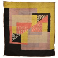 This colorful vintage French Art Deco rug utilizes a contrasting color palette that is typically seen in items from the early phase of movement. The style is also heavily inspired by Berber rugs from Morocco. Textiles, Textile Patterns, Textile Art, Bauhaus, Art Deco Rugs, Quilting, Modern Art Deco, Modern Design, Art Deco Furniture