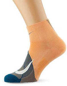 Nike Men`s Spark Lightweight Quarter Running Socks 1 Pair (Fuel Orange/Nightshade/Teal Tint, Men Running Socks, Nike Running, Nike Men, Teal, Pairs, Orange, Clothes, Fashion, Outfits