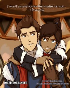 awww! He's even wearing water tribe clothes! :D  Can you tell I like Makorra?