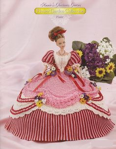 Flower Garden Collection Violet Crochet Pattern for Dress for 11.5 Fashion Doll 1 in a series of 3. Check out my shop for Flower Garden