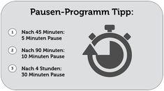 Arbeitsrecht: Pausenprogramm Pausenregelung
