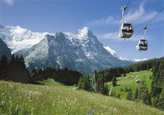 Grindelwald Switzerland HD Wallpapers and images Grindelwald Switzerland HD Wallpaper Cable car over Grindelwald Switzerland Gri...