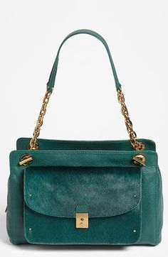 Tory Burch 'Priscilla' Leather & Calf Hair Shoulder Bag available at #Nordstrom..