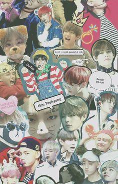 BTS V collage wallpaper Jimin, Bts Taehyung, Bts Bangtan Boy, K Pop, Meme Background, V Bts Wallpaper, Bts Backgrounds, Bts Lockscreen, Bts Edits