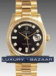 Rolex Oyster Perpetual Day-Date 118238 negro Dial, Stick Marker