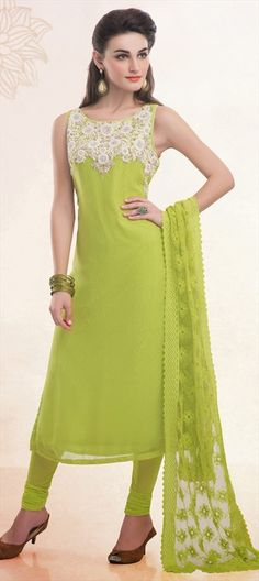 Since we're talking NEON - Order now at flat 10% off + free shipping worldwide.  #SalwarKameez #Partywear #NeonGreen #IndianFashion #women #fashion #lace #sale #holi #ss15