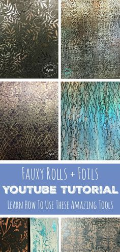 Fauxy Rollers | Decorative Rollers | Foiling | Foil Project | How-To Video | YouTube Tutorial | DIY Tutorial | DIY Project
