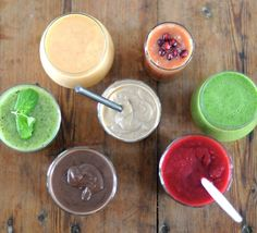 Smoothie guide from simple blueprint Food Inspiration, Smoothies, Food Photography, Deserts, Healthy Eating, Treats, Snacks, Dishes, Simple