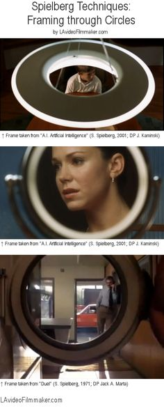 Steven Spielberg film techniques - framing is a very aesthetically pleasing technique - finding shots like these would add to our short. For example, framing Julia in the mirror in the bathroom.