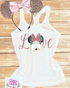 Excited to share the latest addition to my #etsy shop: Rose Gold Disney Love Minnie Mouse Glitter tank. Cute disney tank. Disneyworld. Disneyland. Vacation tank. #clothing #women #tank #cutedisneytee #rosegold #minniemouse #glitter #disneylife #graphictee